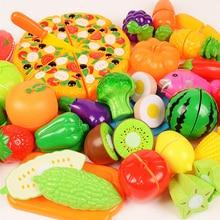 6/10/18 Pcs Groenten Leuke Speelgoed Vroege Ontwikkeling En Onderwijs Speelgoed Voor Baby Kleur Willekeurig Patroon Surwish plastic Fruit Speelgoed