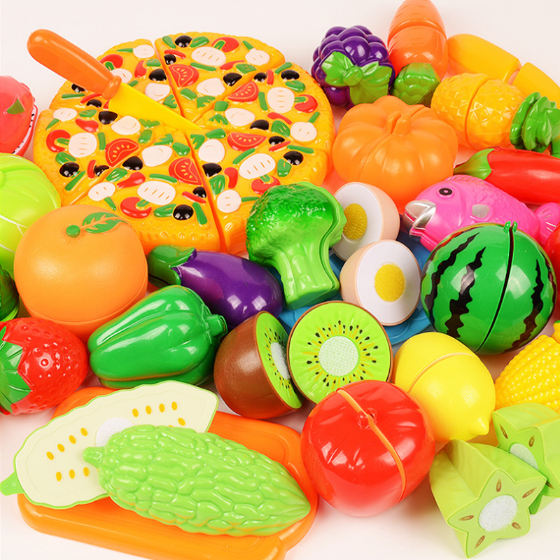 6/10/18pcs Vegetables Cute Toys Early Development And Education Toys For Baby Color Randomly Pattern Surwish Plastic Fruit Toys