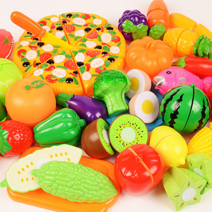 Image 1 - 6/10/18pcs vegetables cute toys early development and education toys for baby color randomly pattern surwish plastic fruit toys