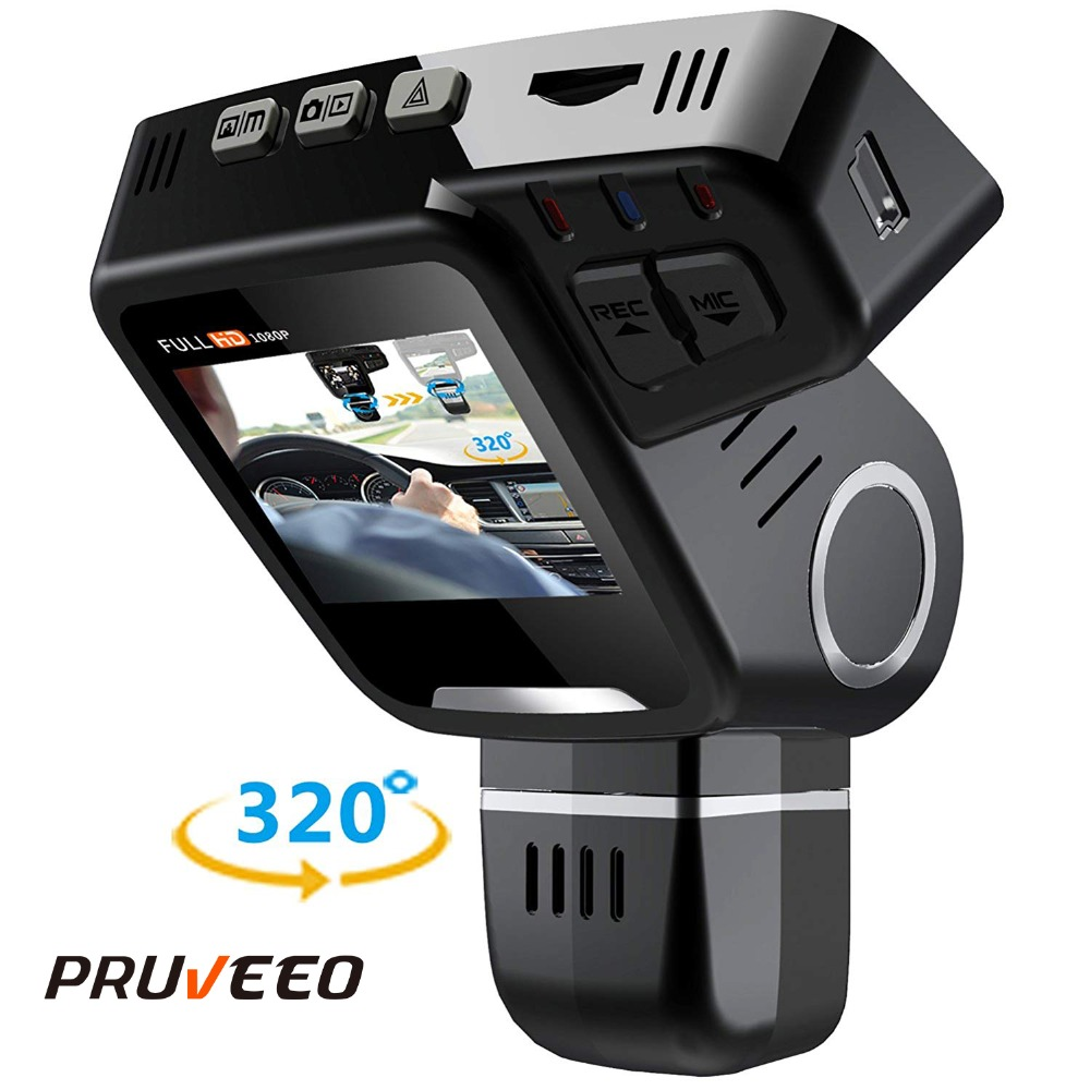 Pruveeo H1-Plus Dual Dash Cam Front and Rear Camer