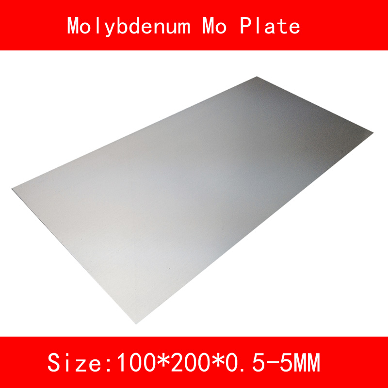 Molybdenum plate size 100*200mm thickness 0.5-5mm metal Mo Sheet for Lab DIY Industrial цена