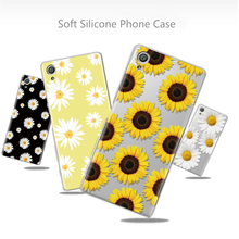 Sunflower Case For Coque Sony Xperia L2 X XA1 XA2 Ultra Plus XZ XZ1 XZ2 Z3 Z5 Compact Funda For Sony Xperia 10 Soft TPU Cover for fundas sony xperia l2 case cover soft liquid glitter silicone tpu phone case for coque sony xperia l2 l 2 case cover