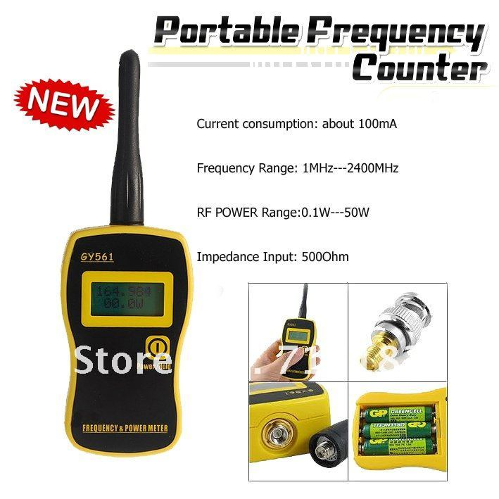Free Shipping Portable Frequency & Power Counter/Meter GY-561Free Shipping Portable Frequency & Power Counter/Meter GY-561