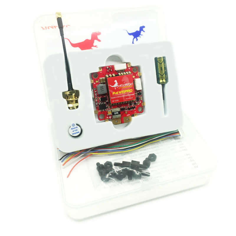 HGLRC F4 V6PRO controlador de vuelo 5,8G 48CH 0/25/100/200/400/600 mW transmisor FPV conmutable BEC PDB y tablero VTX