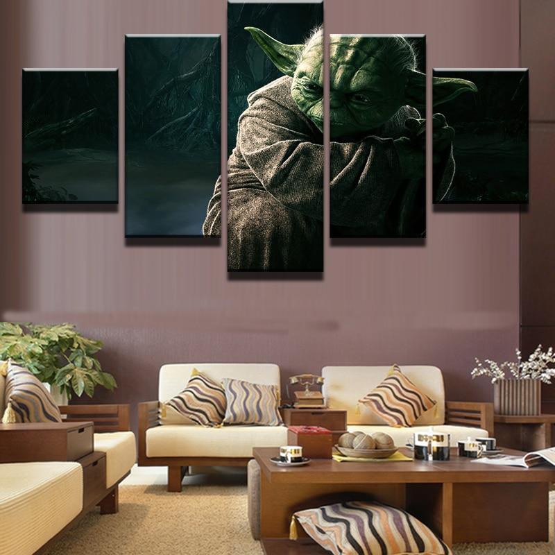 5 Sztuk Movie Star Wars Mistrz Yoda Wall Art Picture Home Decoration