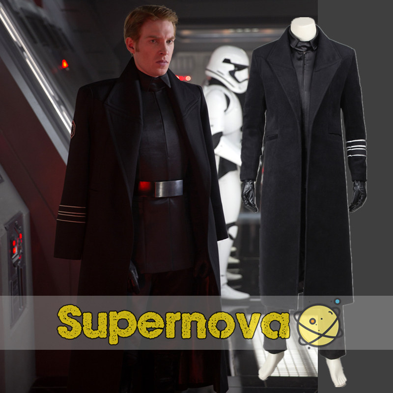 star wars the force awakens general hux cosplay costume adult men classic halloween costumes superhero - Classic Mens Halloween Costumes