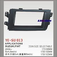 Liislee 2 DIN ABS Plastic Frame Radio Fascia For Suzuki SX4 Fiat Sedici 2005~2014 Auto Interface Dash CD Trim Installation Kits
