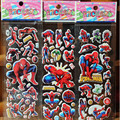 2pcs/lot Bubble Stickers 3D Cartoon the Spider man Classic Toys Scrapbook For Kids Children Gift Reward Sticker