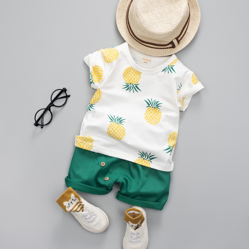 a13865b5 Baby Boys Girls Summer Clothes Fashion Cotton Set Printed Fruit Sports Suit  For A Boy T-Shirt + Shorts Children'S Clothing