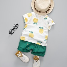 Baby Boys Girls Summer Clothes Fashion Cotton Set Printed Fruit Sports Suit For A Boy T-Shirt + Shorts Children'S Clothing(China)