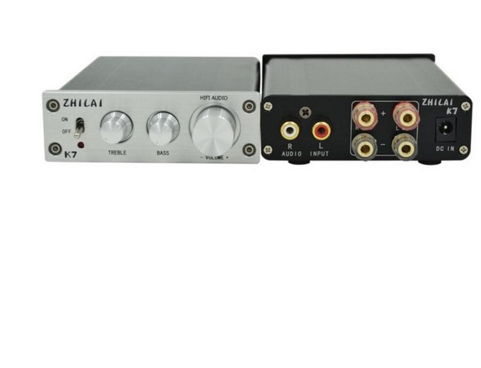 ZHILAI K7 HIFI TDA7498 T-AMP Analog Signal Digital Terble Bass Adjustment Amplifiers High Power mini amplifier Free Shipping led телевизоры tcl led32d2930