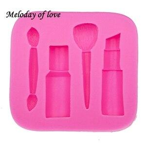 Image 3 - Molde de silicone para maquiagem, ferramentas de maquiagem para diy, esmalte, chocolate, festa, fondant, ferramentas de decoração de bolo, sobremesa, t0075
