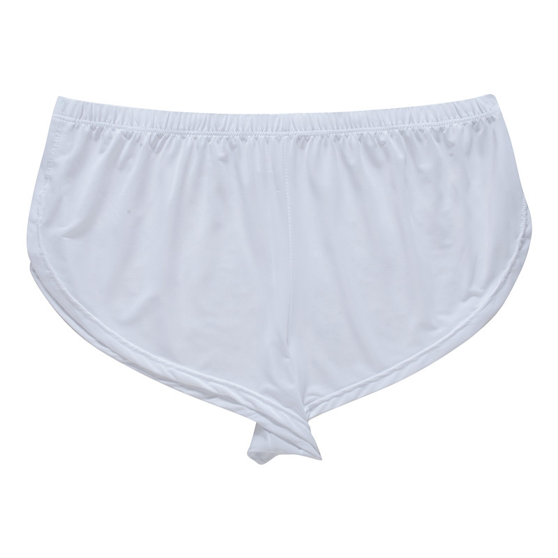 Home Sleep Bottoms Loose Underwear Men's Shorts Homes Family Breech Man Satin Lounge Smooth Briefs