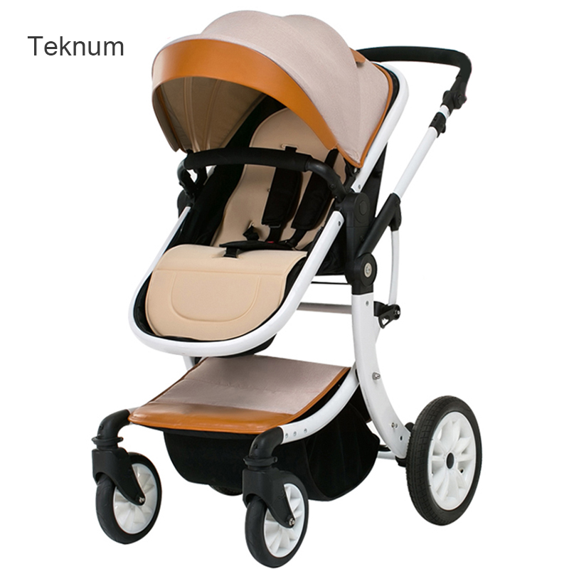 2017 Teknum baby stroller can sit and lie with  high landscape fold  baby trolley