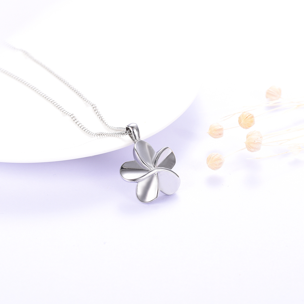 Klh1780 Plumeria Flower Cremation Jewelry Pet Human Memorial Ashes