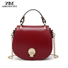 Classic Brand Piggy Bag Women PU Leather Shoulder Bags Fashion Chain Lock Crossbody Bag Small Handbag Tote For Lady Two Straps two tone spliced tote bag