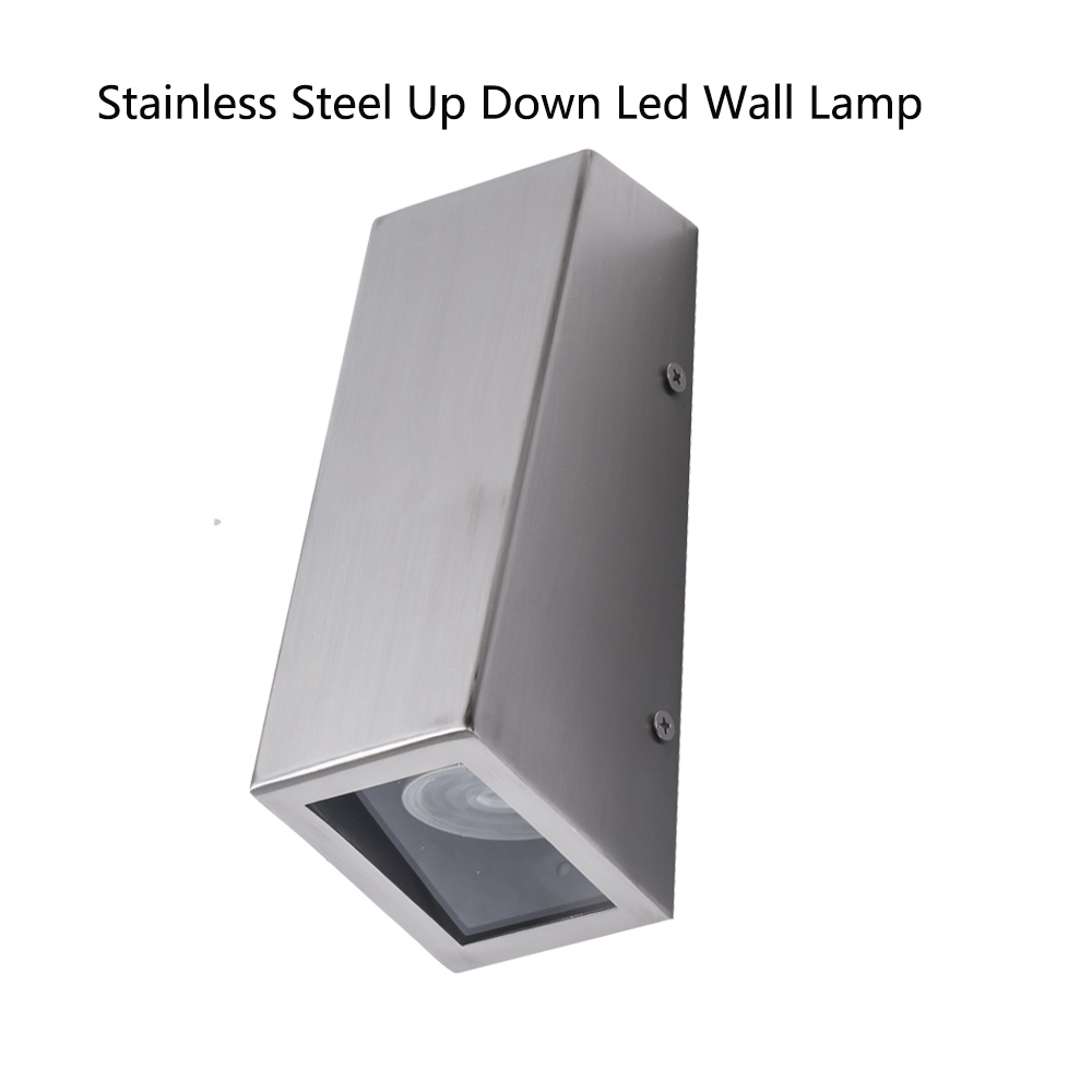 Outdoor Led Wall Light UP and Down porch lamp Stainless steel modern led wall mounted lights with GU10 bulb 10W