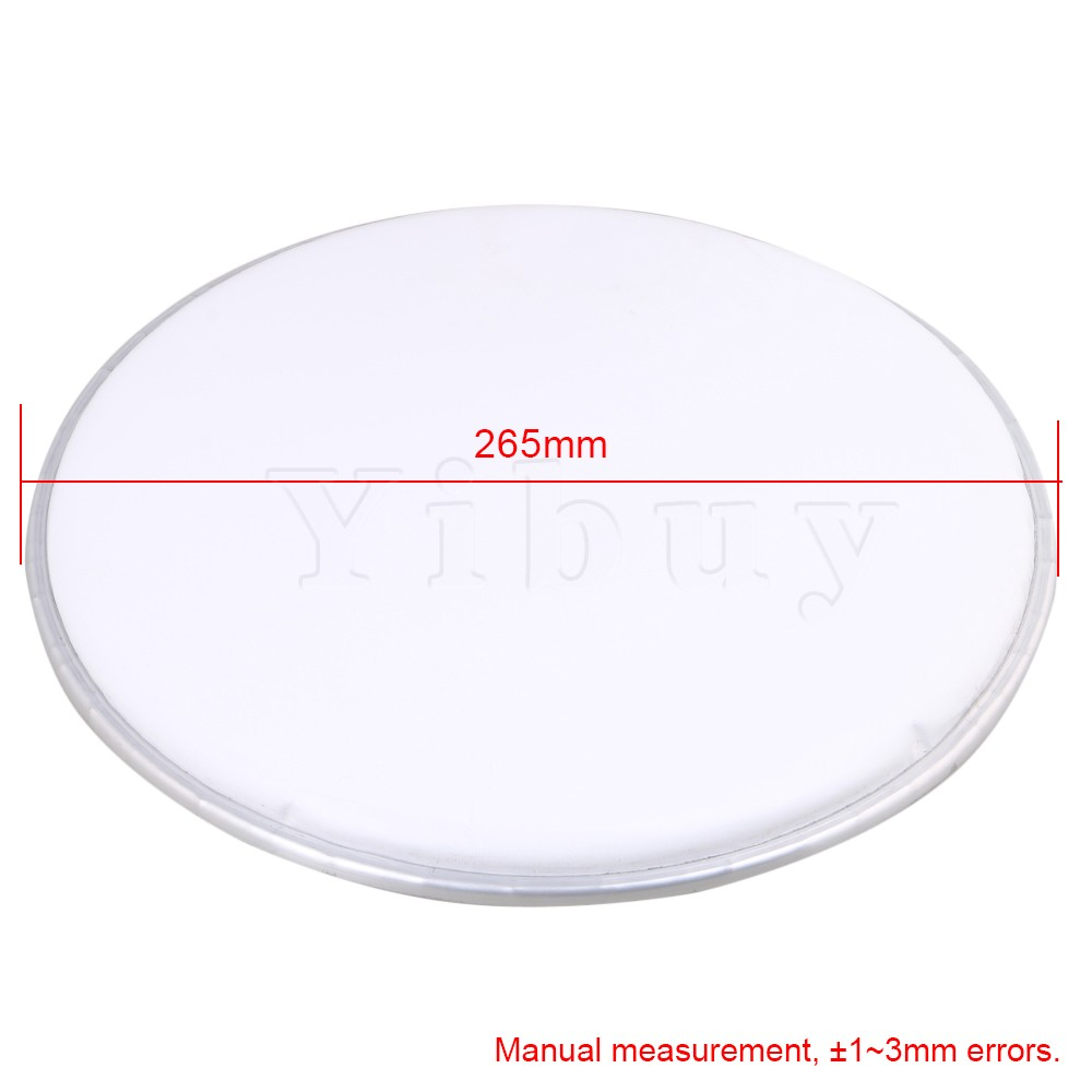yibuy 268mm diameter white resin single ply drum heads drum skins percussion accessories for. Black Bedroom Furniture Sets. Home Design Ideas