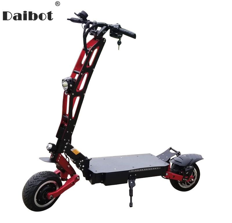 Daibot Scooter électrique pour adulte 3200 W 60 V double moteur 2 roues hors route grande roue gros pneu puissants Scooters électriques