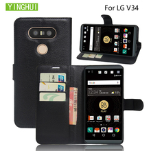 YINGHUI Flip phone case For LG V34 PU leather case wallet style protective capa card cover For LG V34 Leather Cover