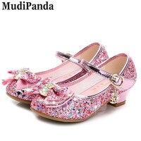 MudiPanda Enfant Fashion Sandals Summer Girls Shoes Lovely Rhinestone Bow Children Sandals High Quality Princess Kids