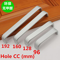 Hole CC 96mm/128mm/160mm/192mm Aluminum  Kitchen Furniture pulls Solid wardrobe handle drawer handle
