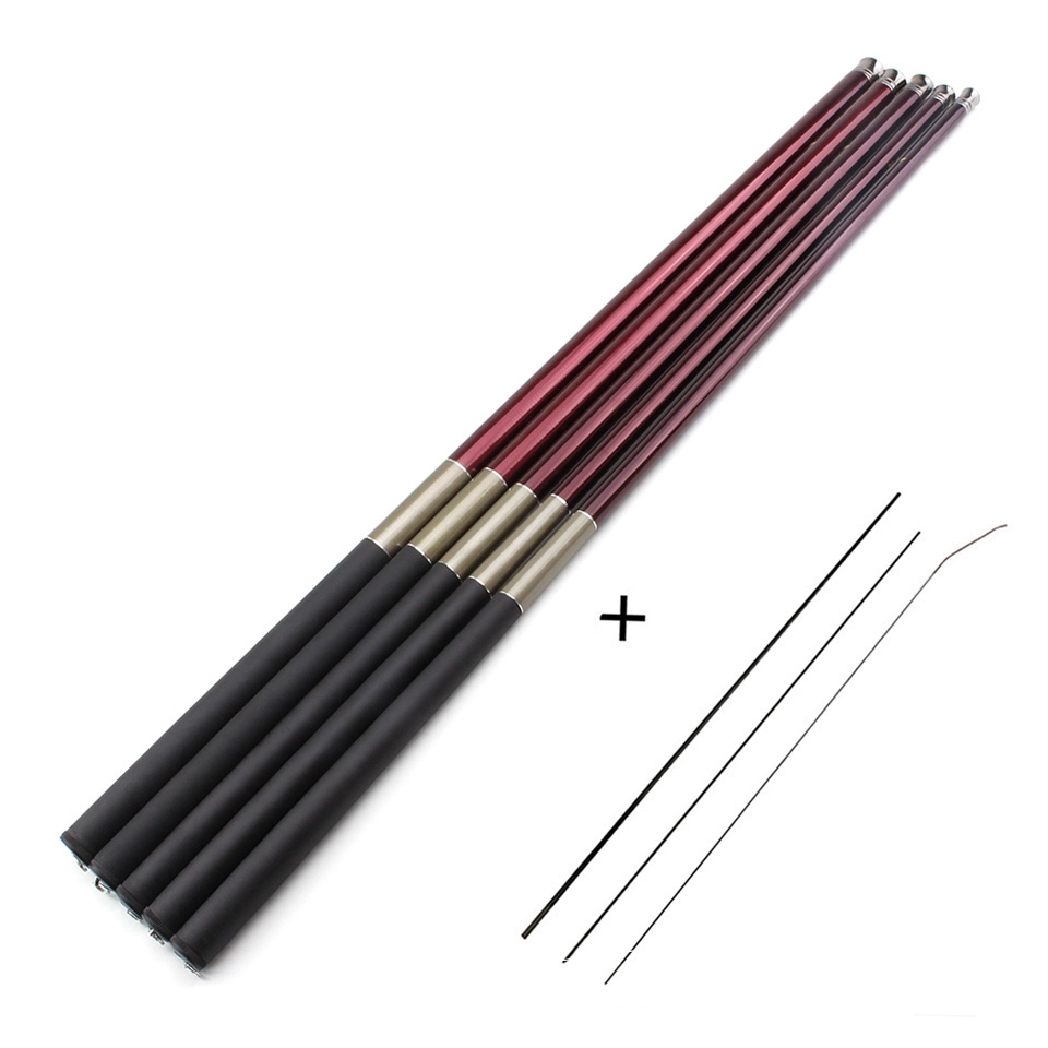 Promotion!  Telescopic Carp Fishing Rod Carbon Fiber Fishing Pole Stream Rod Hand Pole 3.6m -7.2m Fishing Tackle free 1-3 tips(China)
