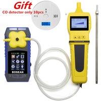 4 в 1 O2 H2S CO детектор горючих газов с газ сэмплер насос кислорода Анализатор угарного газа монитор газ детектор утечки