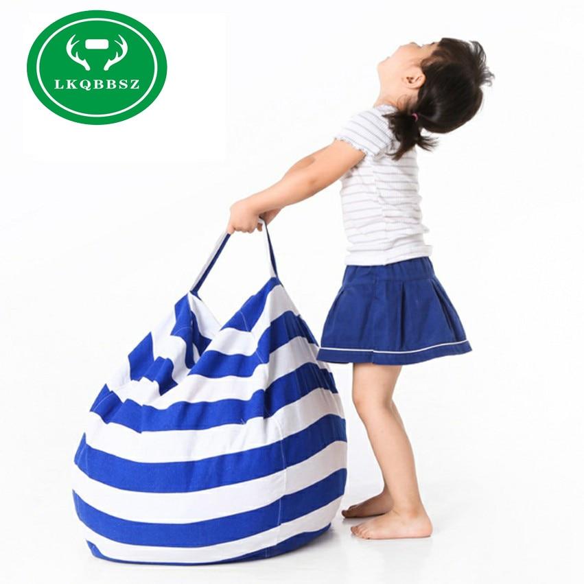 Canvas Storage bags for toys Storage Stuffed Animal Storage Bag Chair Portable Kids Toy Storage Bag