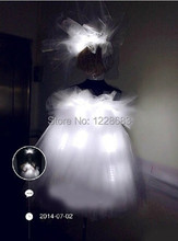 Free Shipping New 2015 Ballet Swan Tutu Costume Led Light Up Dress / Led Luminous Dress / Party Led Costumes