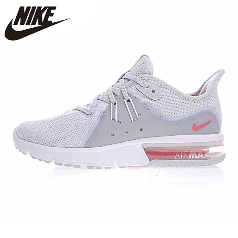 US $89.55 40% OFF|NIKE AIR MAX SEQUENT 3 Men's Running Shoes, White Grey, Shock absorbing, Breathable, Breathable 921694 012 921694 060 in Running