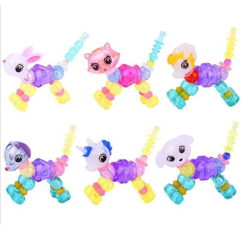 Animal Unicorn Bracelets Magic Tricks Creative Children Magic Toy Bracelet Surprise Twisted Pet DIY Jewelry Random