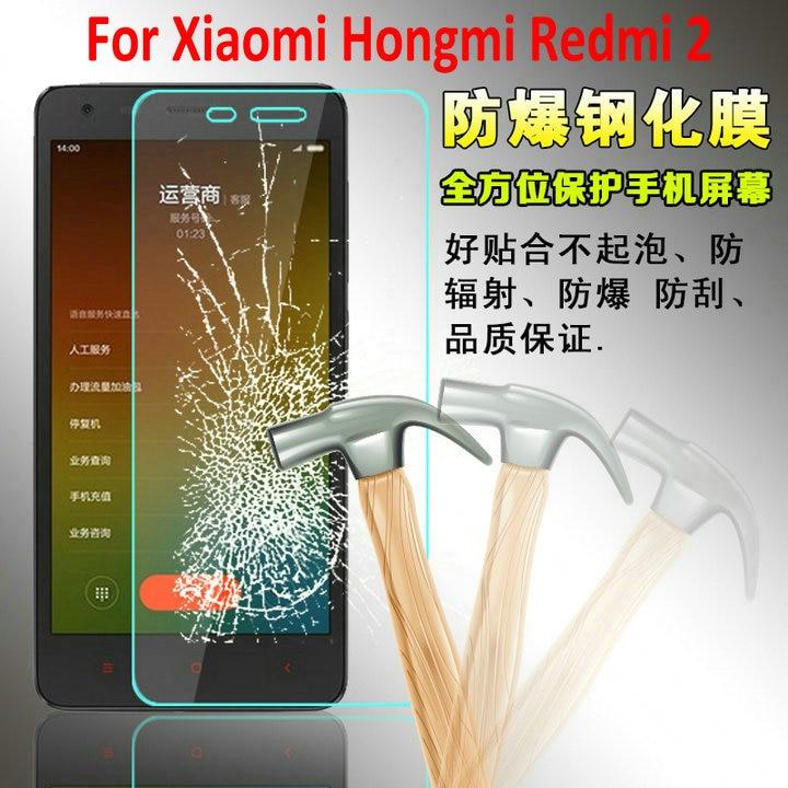 bfcd635ec3 A prova di esplosione Vetro Temperato Protezione Dello Schermo per Xiaomi  Hongmi Riso Rosso 2 s 2a Vetro Pellicola Protettiva per Xiaomi Redmi 2 4.7