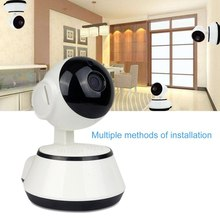 цена на LESHP Baby Monitor Mini IP Camera 720P HD 3.6mm Wireless Smart WiFi Baby Camera Audio Record Surveillance Home Security Camera