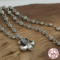 S925 sterling silver men's necklace personality fashion classic jewelry punk style anchor shape 2018 new gift to send lover