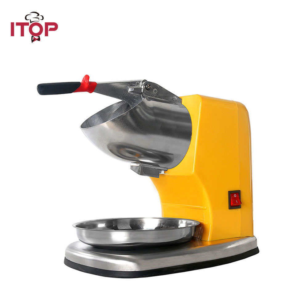 Hot sale Stainless Steel Electric Ice Shaver Manual Ice Crusher Machine Snow Cone Maker with CE Free shipping to some countries