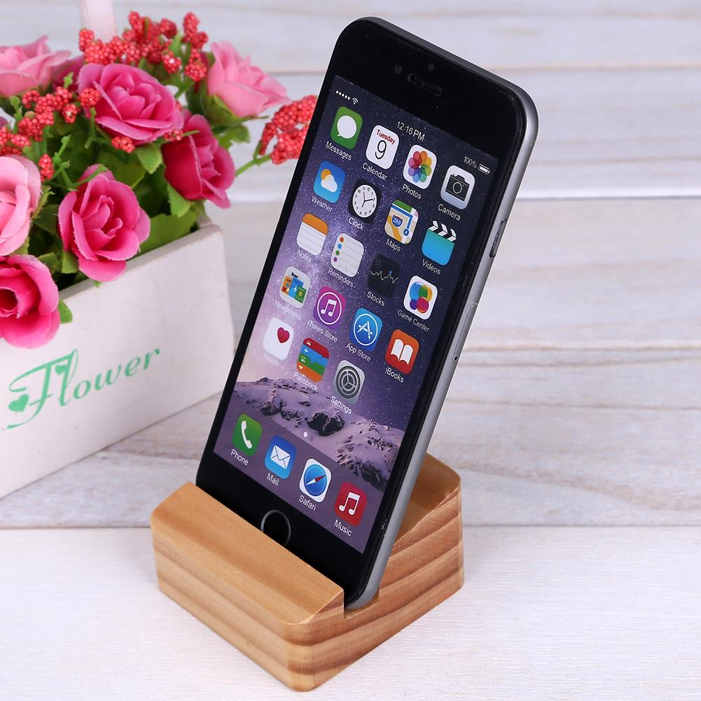 Aliexpresscom Buy 1 PC Mini Wooden Mobile Stand Holder For