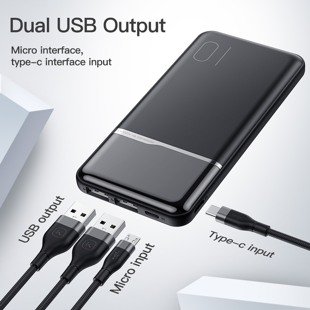 KUULAA Power Bank 10000mAh Portable Charging PowerBank 10000 mAh USB PoverBank External Battery Charger For Xiaomi Mi 9 8 iPhone 2