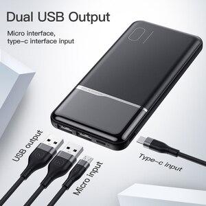 Image 3 - KUULAA Power Bank 10000mAh Портативное зарядное устройство Poverbank 10000 мАч Dual USB сверхтонкое зарядное устройство для Xiaomi Mi 9 8 iPhone