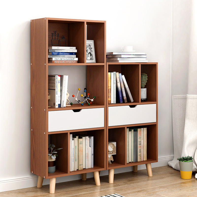 US $105.97 30% OFF|Bookshelf Nordic bookcase living room floor racks modern  minimalist living room storage rack office racks study bookcase-in ...