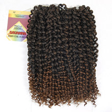 Havana Twist Hair Crochet braids Synthetic Ombre Braiding Hair Extensions Brazilian Jerry Curly Bundles Kinky Curly Hair Bulk(China)