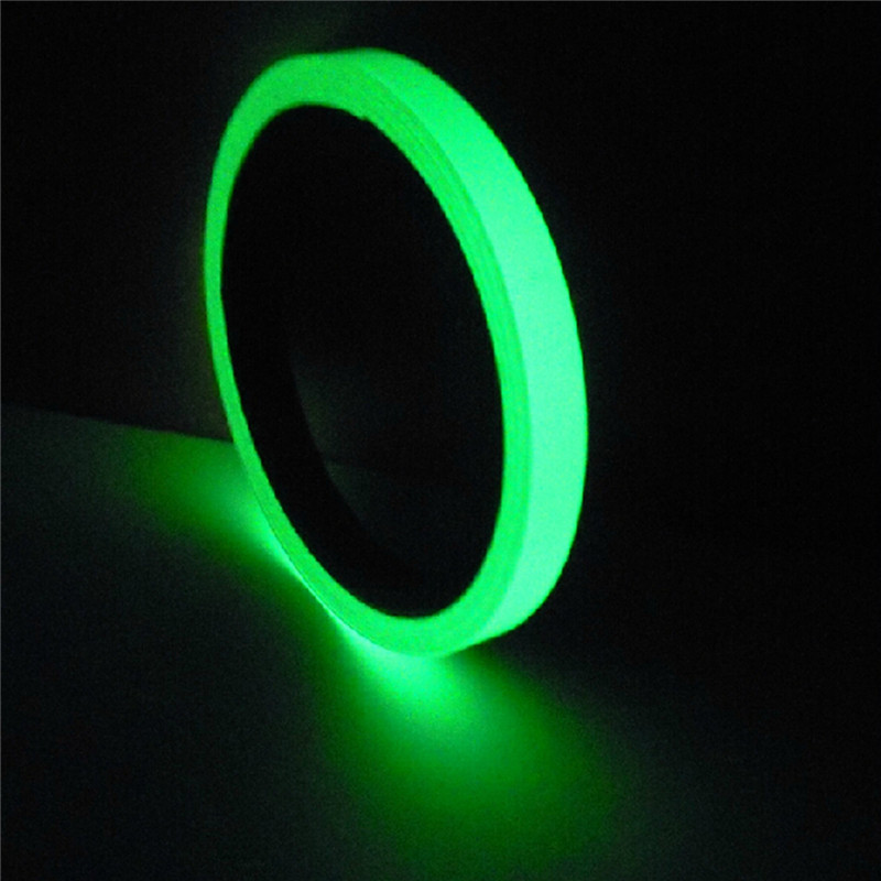1pcs  High Quality Luminous Tape Self-adhesive Glow In Dark Safety Film Sticker Stage Decor Green 1Mx1cm acecamp 3126 2 in 1 auto compass thermometer w self adhesive tape black