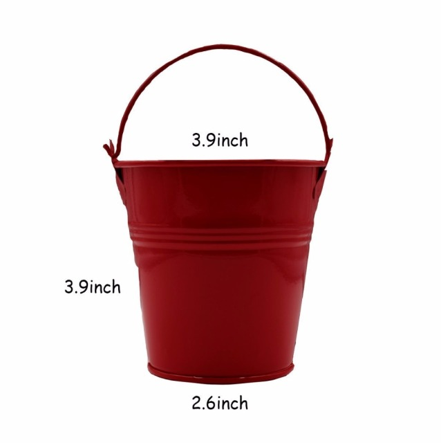 Hanging Portable Flower Pots Garden Balcony Planters Metal Iron Bucket Flower Holders With Detachable Hook Home Decor