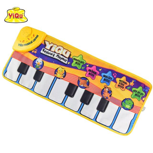 72*28cm new children toy keyboard music carpet mat blanket kids learn singing mat for children kids rug puzzle piano mat