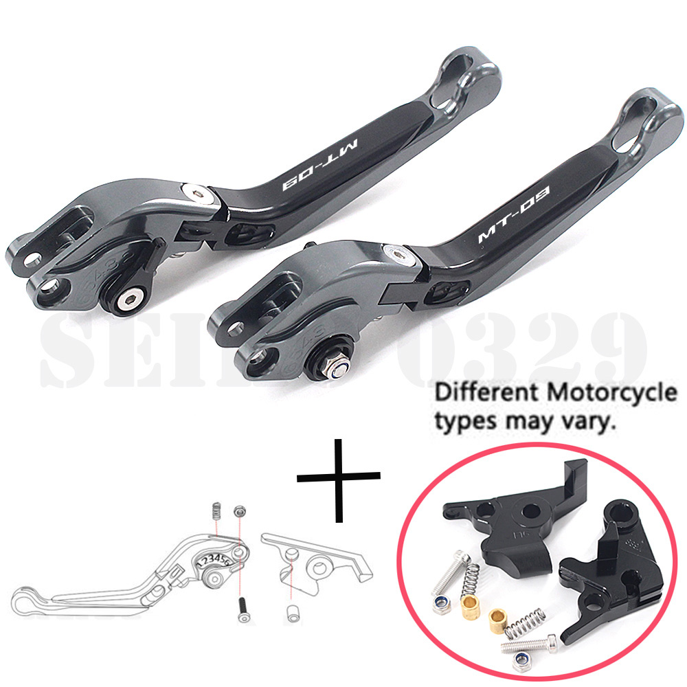 For YAMAHA MT-09 MT09 SR 2014-2015 CNC Motorcycle Accessories Adjustable Folding Extendable Brake Clutch Lever MT09 MT 09 FZ09(China)