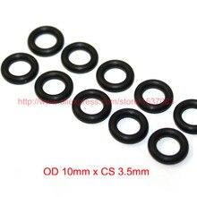 OD10mm*CS3.5mm black NBR nitrile o ring o-ring oring sealing rubber cord 70 shore a