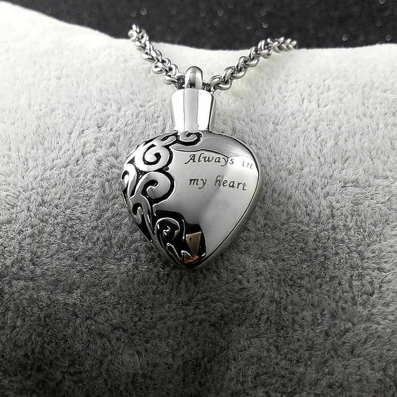Stainless steel love heart necklace memorial cremation ashes urn stainless steel love heart necklace memorial cremation ashes urn necklace locket pendant bone ash jewelry for men women pendant in pendant necklaces from mozeypictures Choice Image