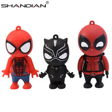 SHANDIAN 4 Deadpool Superhero Hulk Pendrive usb 2.0 Flash Drive GB 8G 16 GB GB 64 32 GB de Memória vara Disco Criativo Superman Brinquedo de Presente(China)