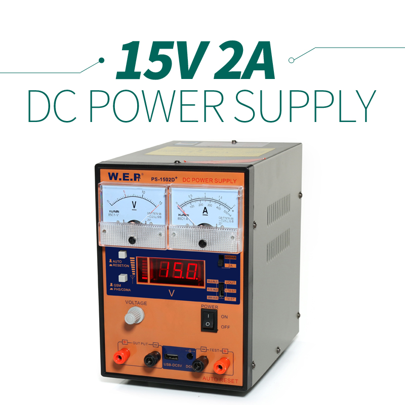 ФОТО 220V/110V YIHUA 1502D+ High Precision 15v Variable Voltage  Power Supply For Solder Station