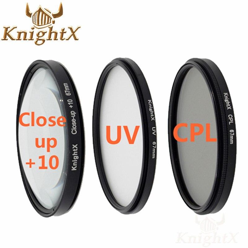 KnightX 67mm 52mm 58mm filtro polarizzatore cpl uv per nikon d5300 Canon 1200d 600d 100d obiettivo 5D 6D 7D 70D d3300 d3200 d5200 d5500